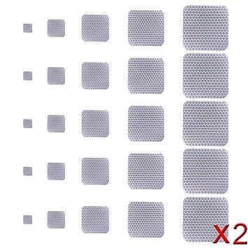 Tuqiang Adhesiva Cinta Reflectante Seguridad Advertencia Etiqueta para Silla de ruedas Pasarela Escenario 50 Piezas Blanco