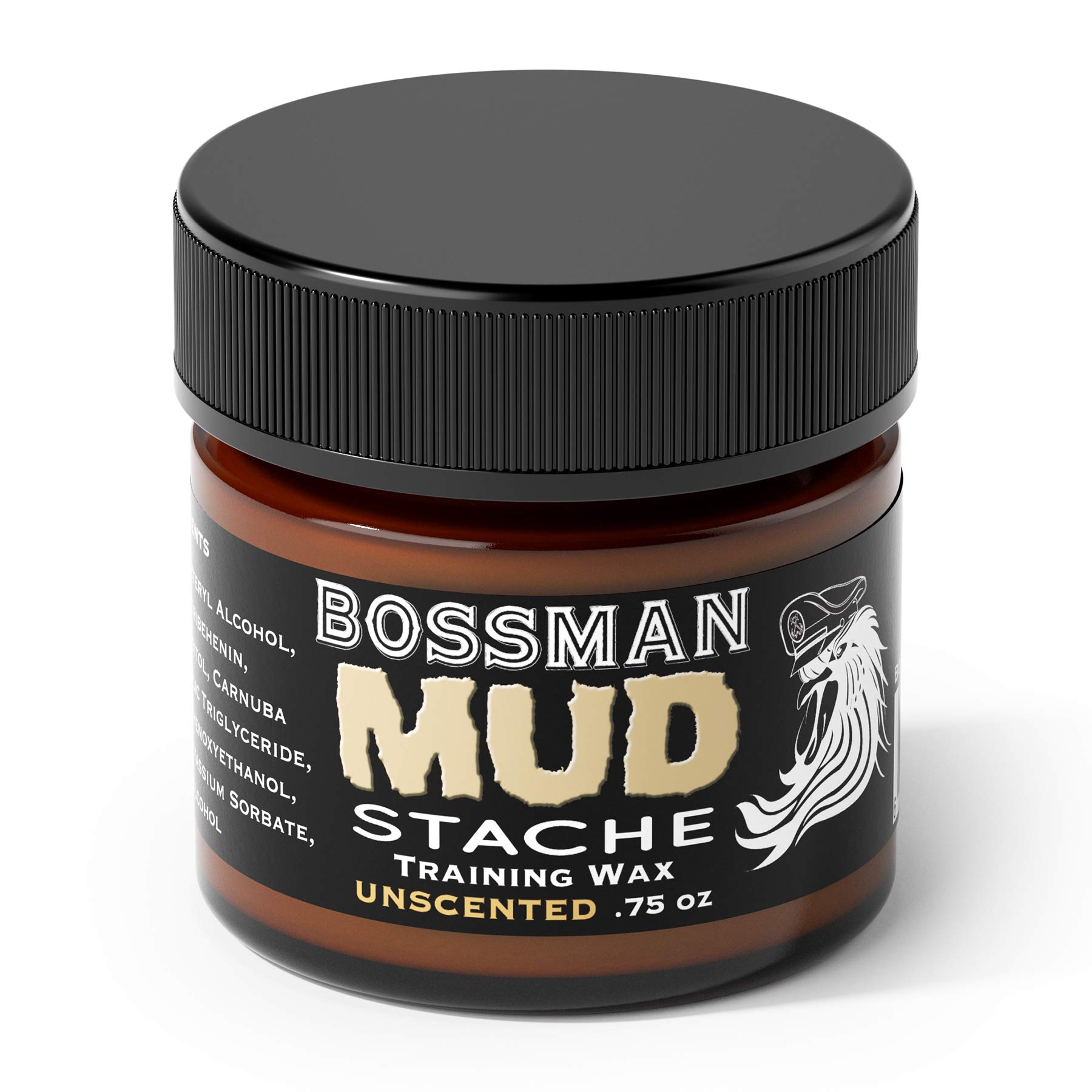 Bossman MUDstache - Mustache Training Wax, Lasts 24hrs, Unscented, No Tint. Tame, Train and Style by Bossman (Image #3)