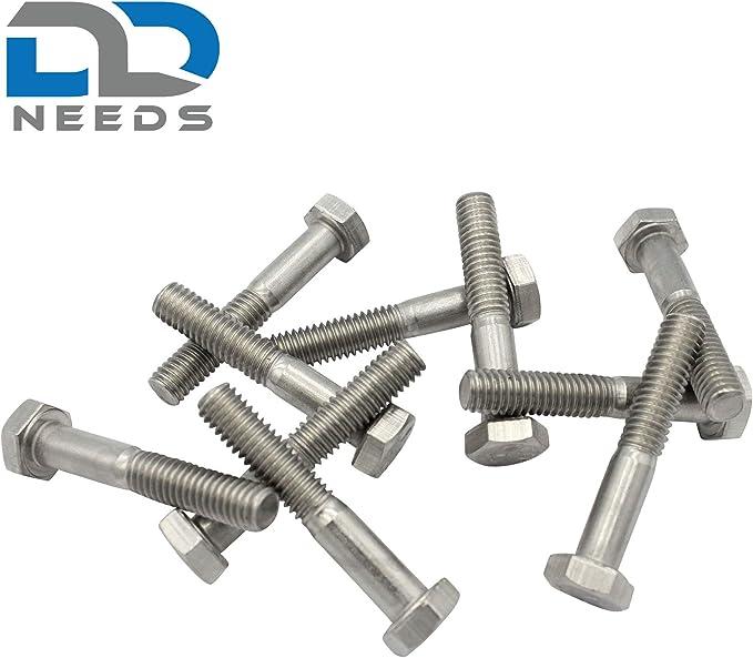 DIN 931 // ISO 4014 VPE: 4 St/ück Maschinenschrauben M6x120 D2D aus rostfreiem Edelstahl A2 V2A Sechskantschrauben mit Schaft