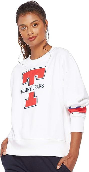 TALLA XS. Tommy Hilfiger Logo sudadera para Mujer