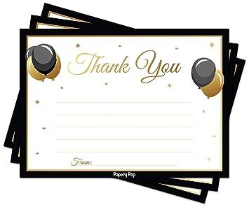 Amazon.com: 30 tarjetas de agradecimiento con sobres (30 ...