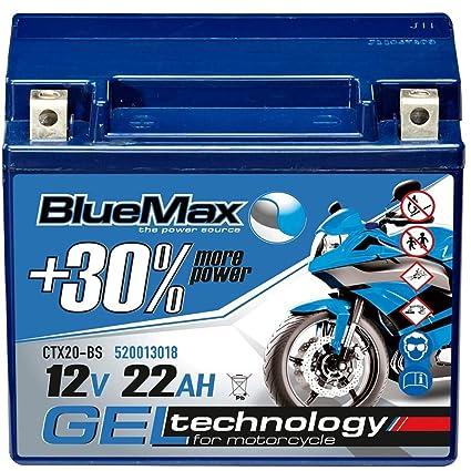 Motocicleta batería 12 V/22 Ah - 270 A/EN ctx20 de BS Gel ...