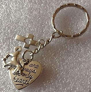 Charm necklace European Clipon Keyring in my heart memorial loss horse CN108