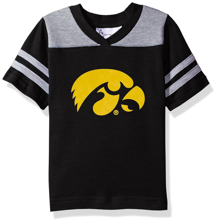 Two Feet Ahead NCAA Iowa Hawkeyes Toddler Boys Football Shirt, Black, 2