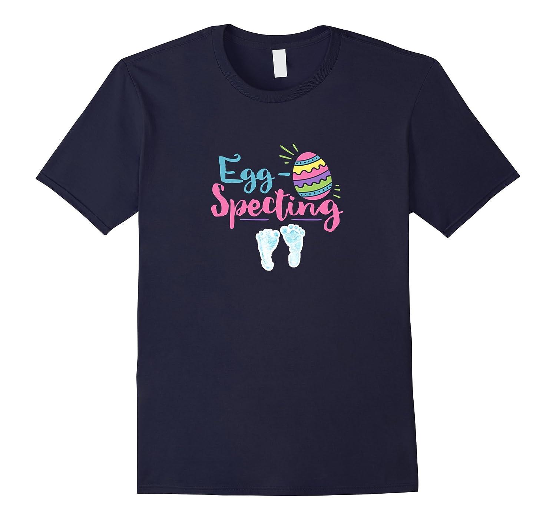 Funny Pregnancy Shirt Easter Egg Specting Mom Baby Boy-TH