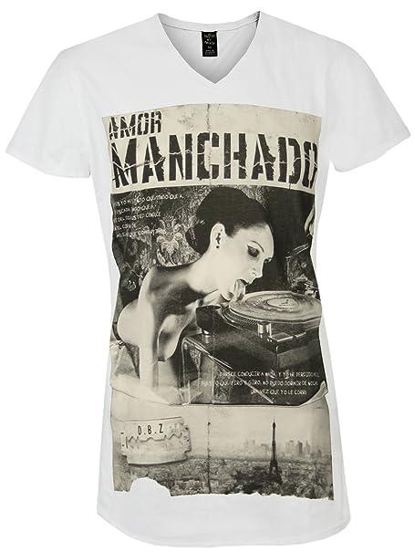 Death by Zero Hombre Diseñador Shirt Camisetas - MANCHADO -XL
