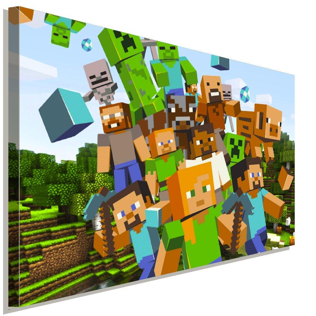 Minecraft 2 Game Spiel Leinwandbild LaraArt Studio Wanddeko ...