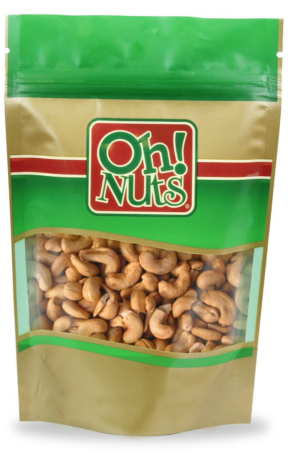 Dry Roasted Cashews Salted (5 Pound Bag) - Oh! Nuts