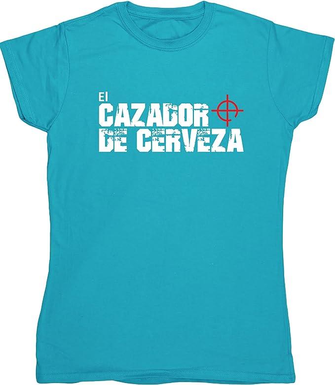 HippoWarehouse El Cazador De Cerveza camiseta manga corta ajustada para mujer: Amazon.es: Ropa y accesorios