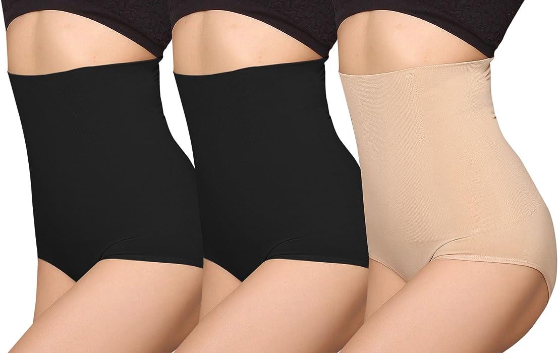c78e31b80c578 iLoveSIA Women s C-Section Recovery Slimming Underwear Tummy Control  Panties 2Black+Nude Size XS