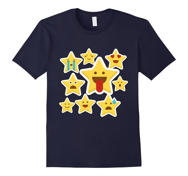 Emoji Stars Happy face Laugh Smiley face In love T-Shirt-Vaci