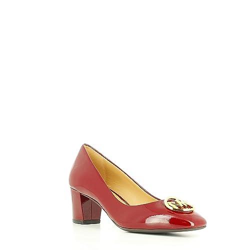 64fd7005d042 Michael Kors - Dena Flex Mid Pump Patent - Maroon - 36 EU  Amazon.es   Zapatos y complementos
