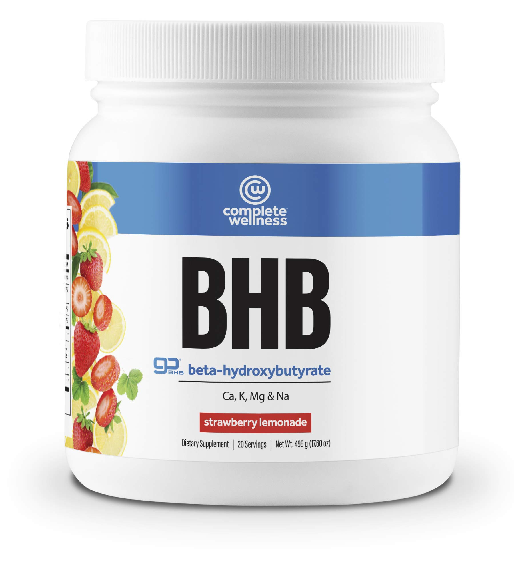 Complete Wellness BHB Beta-Hydroxybutyrate (Strawberry Lemonade) - 20 Servings - Great Supplement for Ketosis