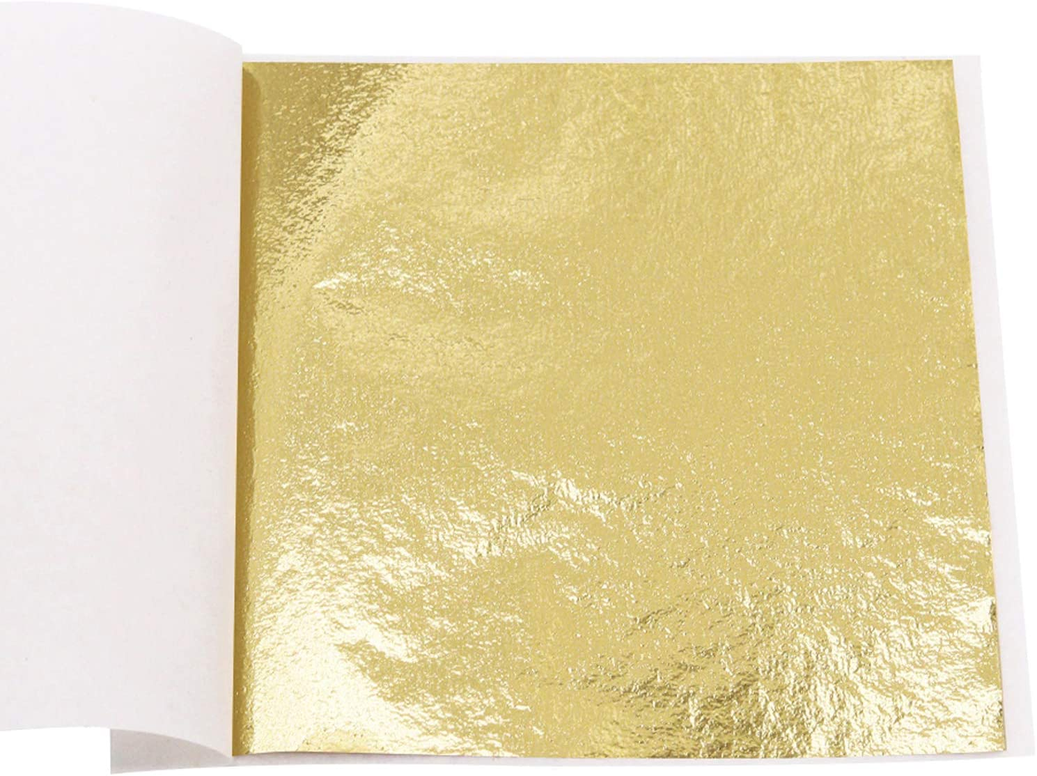 KINNO 100 Sheets Imitation Gold Foil Sheets - K Gold Leaf Paper for Furniture, Arts Decoration, Handcrafts, Picture Frames, Gilding, Nails, Paintings, Slime, Wall, Line, DIY, 3.15 by 3.35 Inches