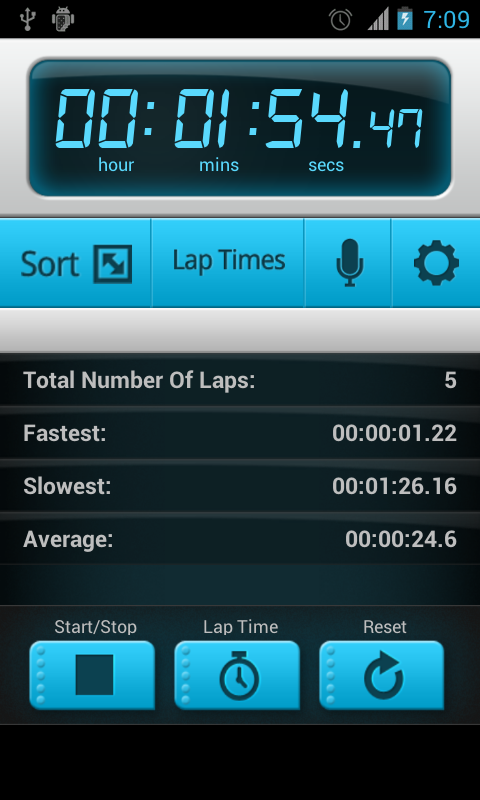 how to add a stopwatch android app game