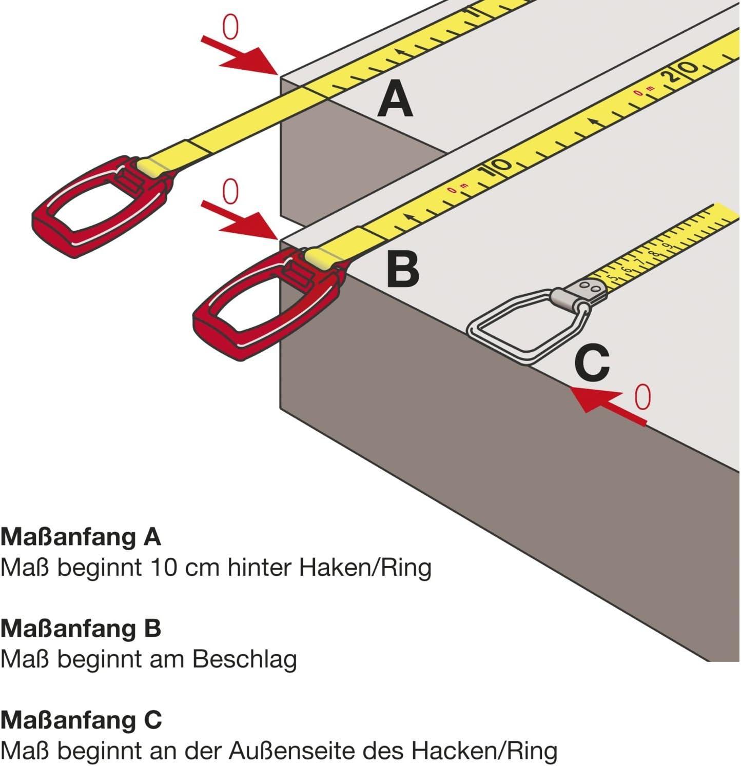 Cadre M/ètre ruban en acier Metri 414/W-v//25/m weilackiert Start de pr/écision II