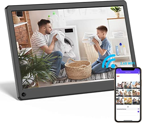 Digital Picture Frame WiFi 12 Inch Digital Photo Frame Full HD 1920×1080 IPS Screen Display