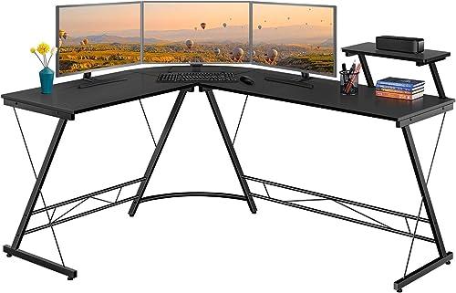 Topeakmart 64 inch Large Size L Shaped Desk Home Office Computer Corner Desk