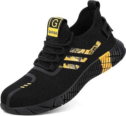 KAWAI Zapatillas de Seguridad Hombre Mujer Transpirables Zapatos de Seguridad Punta de Acero Ligeras Flexibles Anti-pinchazo Calzado de Seguridad: Amazon.es: Zapatos y complementos