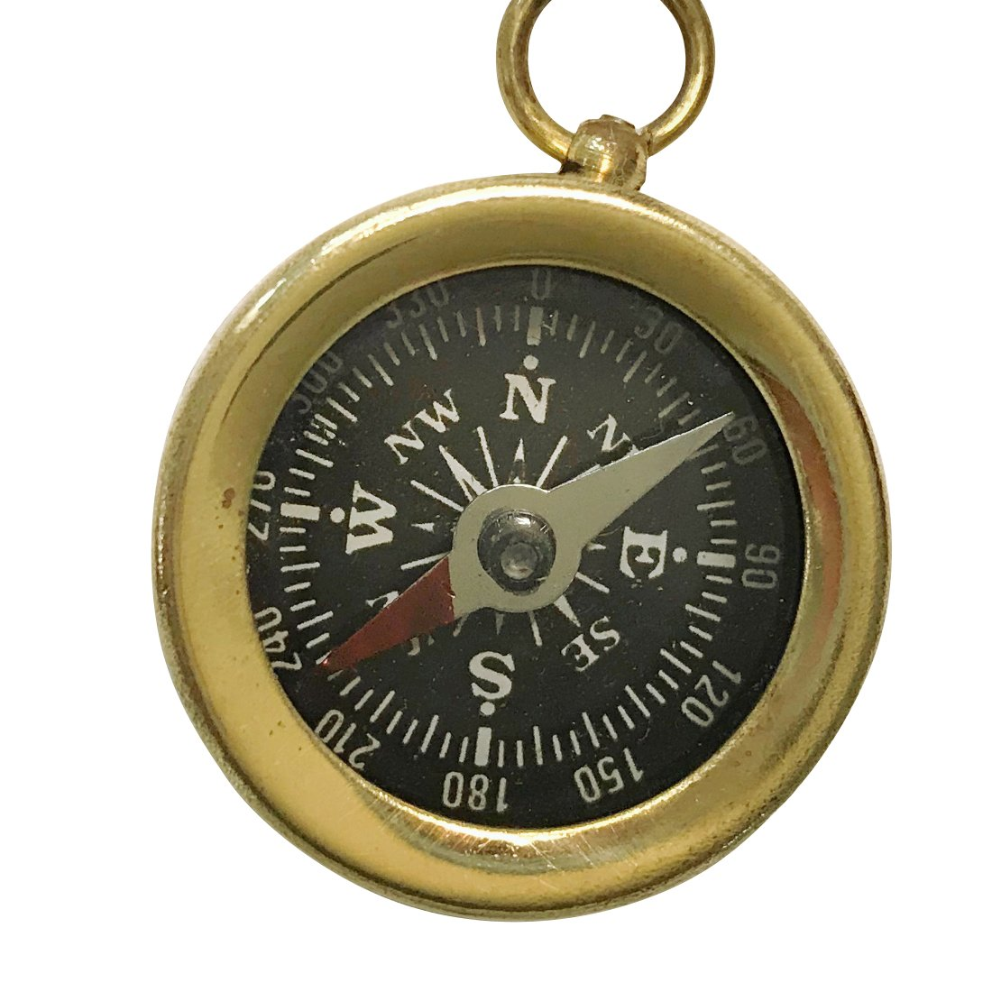 UMBRELLALABORATORY Steampunk Antique Nautical Necklace Compass