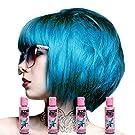 Crazy Colour Bubblegum Blue Semi-Permanent Hair Dye 4 Pack (4 x Blue)