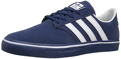 best sneakers ee382 ff7cb adidas Originals Mens  Seeley Premiere Fashion Running Shoe WhiteMystery  Blue S, (