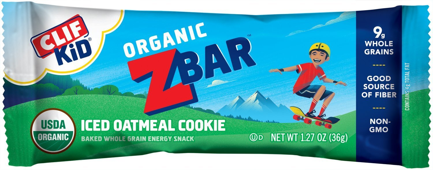 CLIF KID ZBAR - Organic dElMr Energy Bar - Iced Oatmeal Cookie, 18 Count (2 Pack) by Clif Kid ZBar (Image #1)