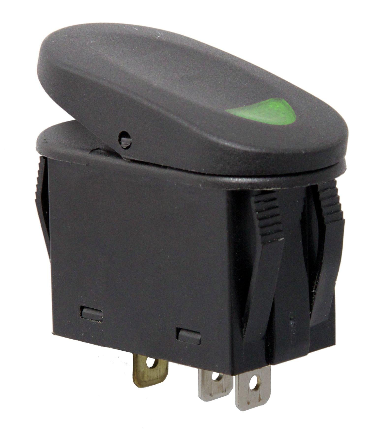 Rugged Ridge 17235.04 Green 2-Position Rocker Switch