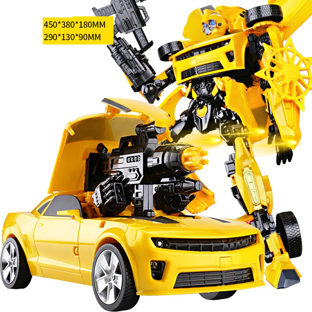 Qiyun Transformation toys 46cm Transformation Robots Car Lights Music Universal Variant Car Model Toys for Childrencolour: Hornets soldier sound and light version