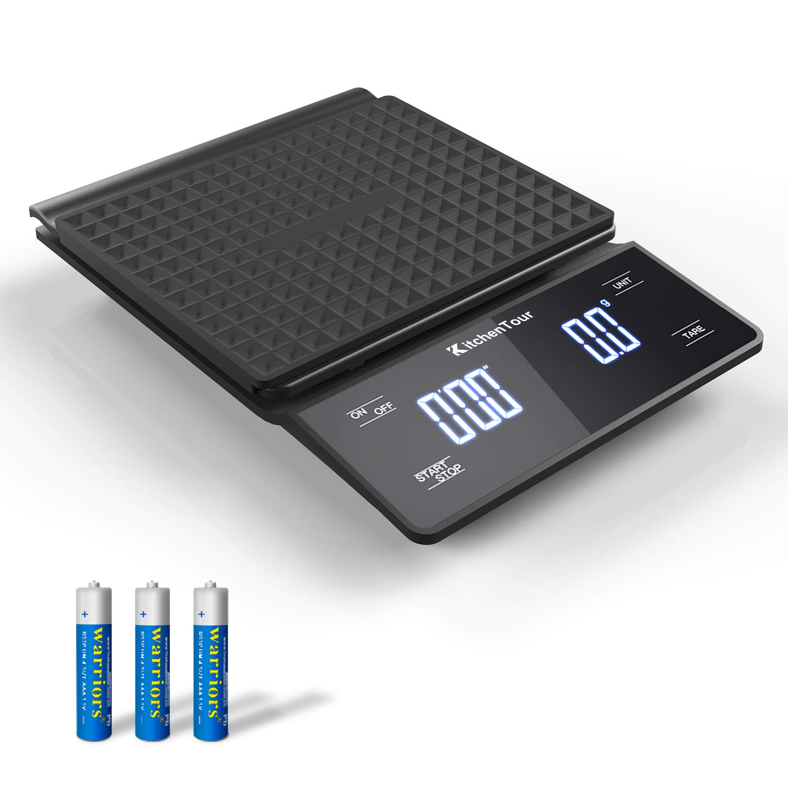 ERAVSOW Digital Coffee Scale with Timer Pour Over Coffee Scale,Stainless Steel