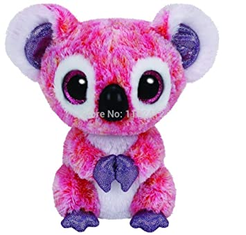 Amazon Com New Ty Beanie Boos Kacey Pink Koala Bear Plush Animals 6