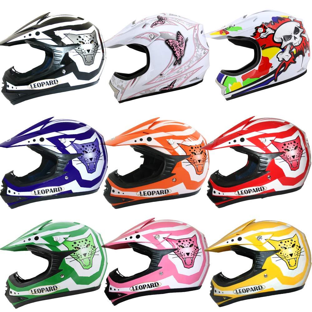 Leopard LEO-X18 Children Motorbike Helmet KIDS Motocross BMX Dirt Bike ATV Helmet - Butterfly M (51-52cm) Touch Global Ltd