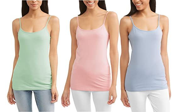 89ed7b94d9821 Time   Tru Women s Basic Scoop Neck Fitted Knit Layering Cami at Amazon Women s  Clothing store