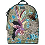 088e3c8c35d6 Gucci XL GG Floral Print Backpack Bag Leather Spring Embroidery Bird Italy  New
