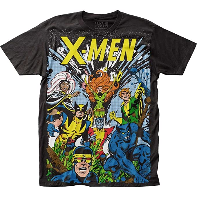 b002905f X-Men The Gang All Over Print Marvel Comics T-Shirt (XL) | Amazon.com