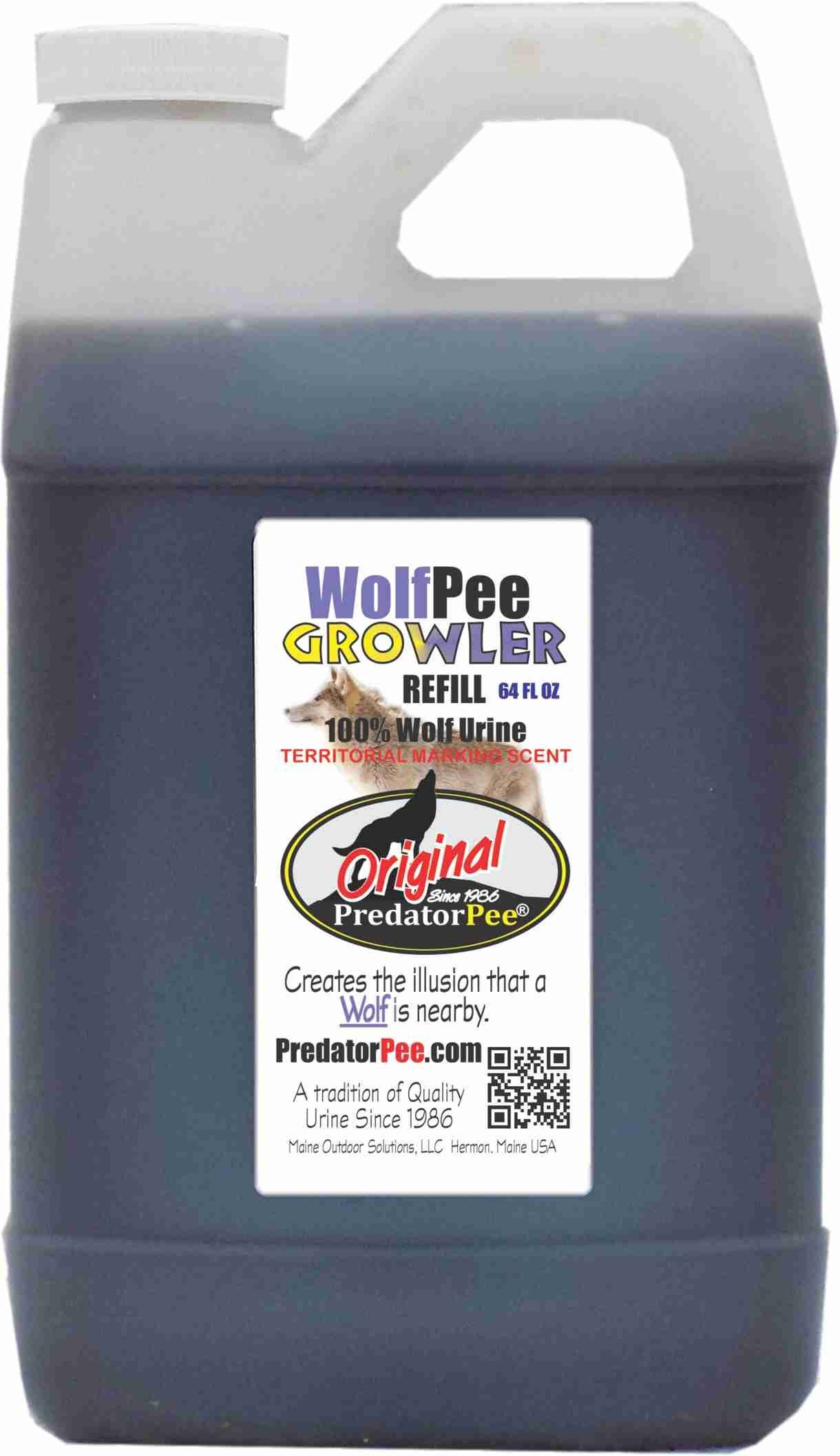 Predator Pee – 100% Pure Wolf Urine – 64oz Refill Jug