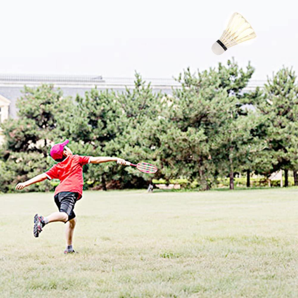 idalinya 12 Unids//Lote Bolas De B/áDminton Volante De Plumas Blancas Interior Deportes Al Aire Libre Entrenamiento Birdies Bolas Accesorio