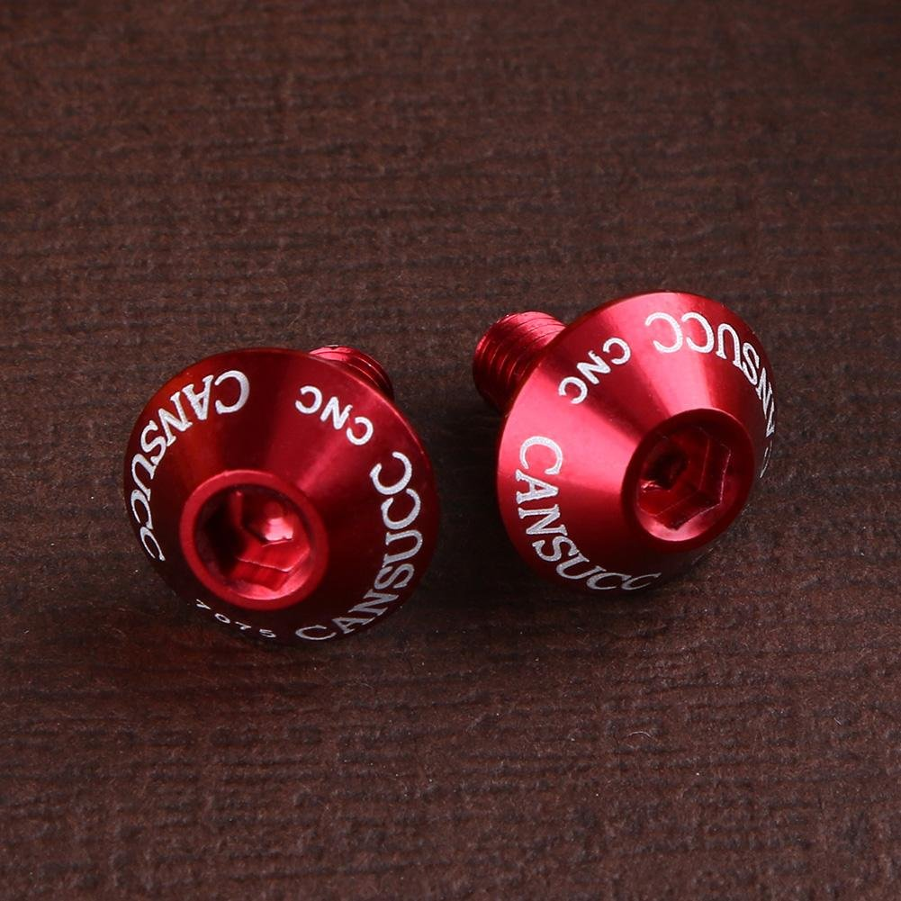 JUNERAIN Lot de 2 boulons en Aluminium pour Bouteille deau de v/élo M5 x 10 mm