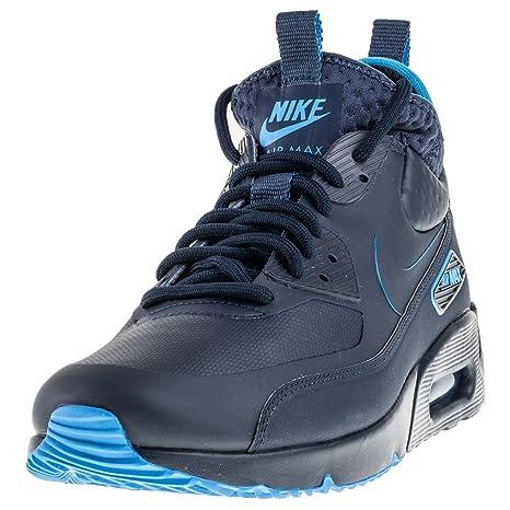 buy online 847e4 03eb0 Nike Herren Air Max 90 Ultra Mid Winter SE Dunkelblau Leder Synthetik  Sneaker 41