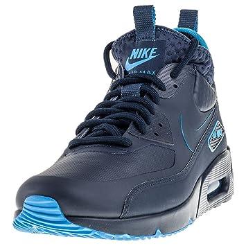 low priced f7a3f c44a8 Nike Herren Air Max 90 Ultra Mid Winter SE Dunkelblau LederSynthetik  Sneaker 41