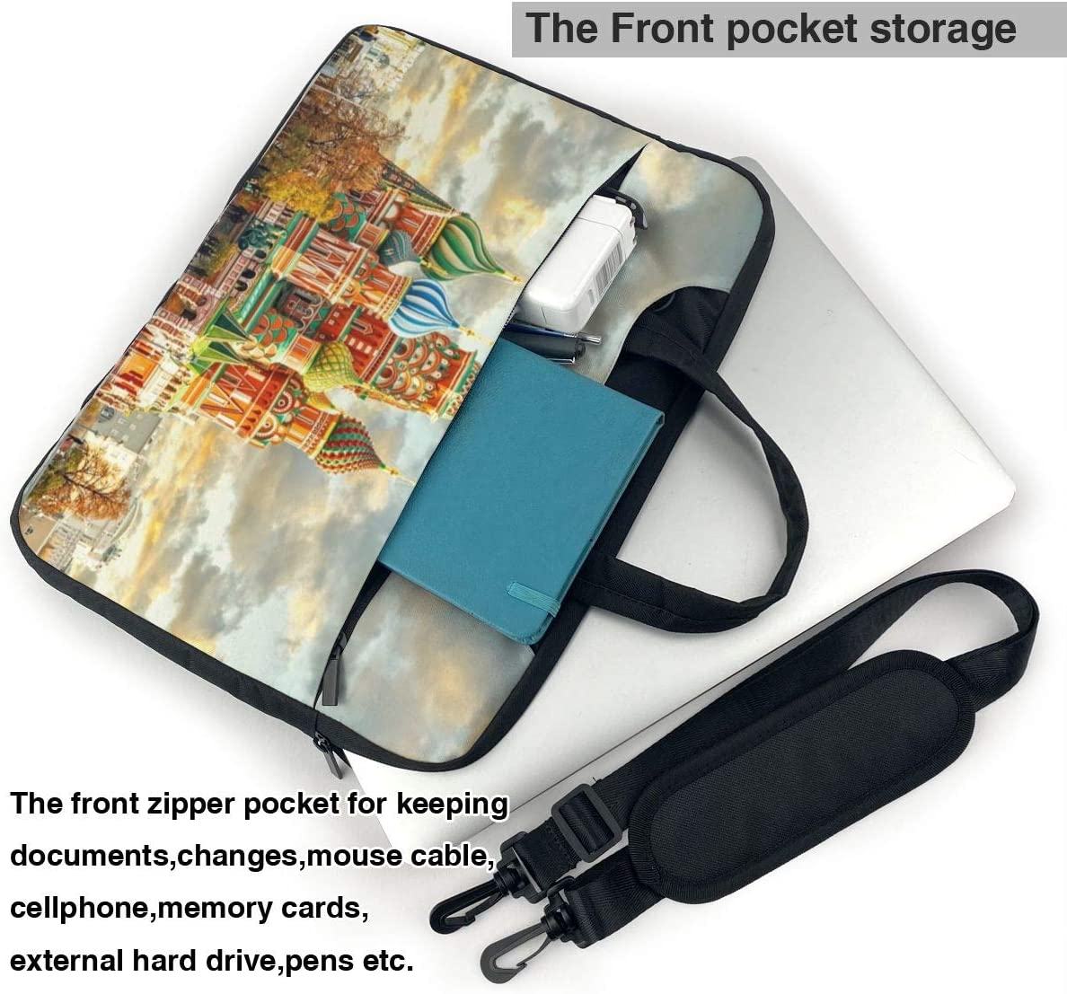 Red Square Moscow Portable Laptop Bag Business Laptop Shoulder Messenger Bag Protective Bag 15.6 Inch Yuotry Neoprene Laptop Sleeve Case