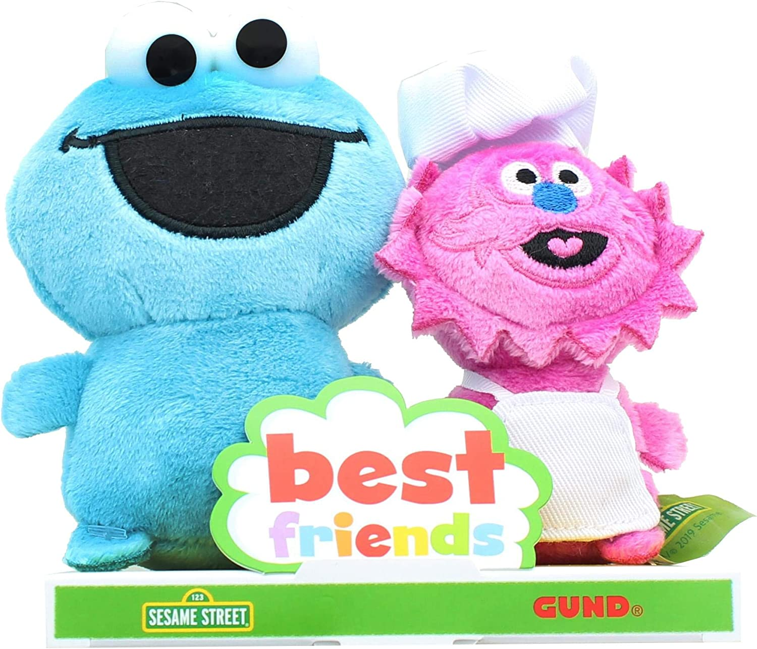 "GUND 6052074 Sesame Street BFF Set, 4"" (Cookie Monster and Gonger)"