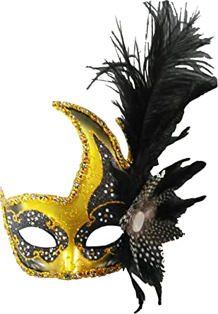 Dance Performance Dress Up            Feather Mask Mardi Gras Parade Masquerade Party Mask 14 Color variations to choose- Halloween 28