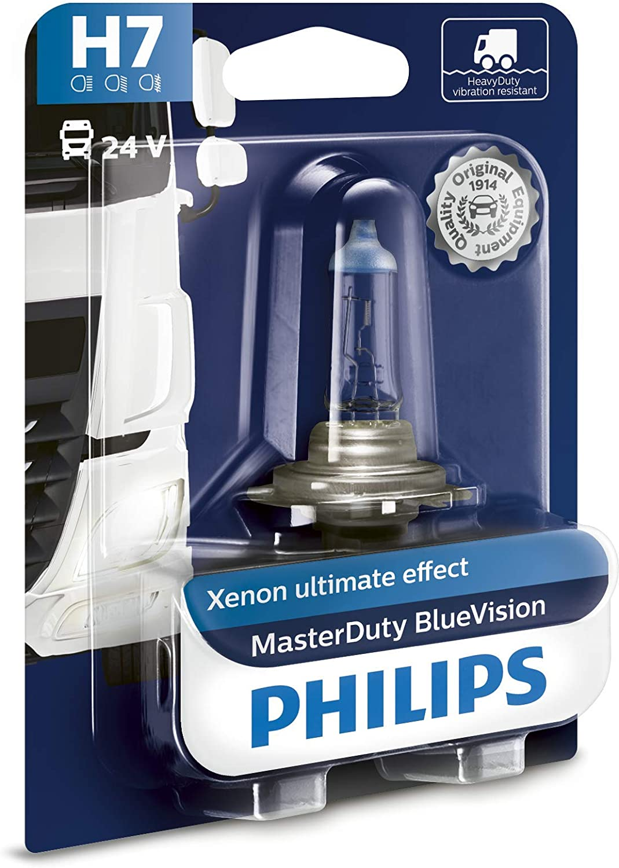 Philips 13972MDBVB1 MasterDuty BlueVision - Bombilla H7 para faros delanteros (1 unidad, 24 V, 70 W)