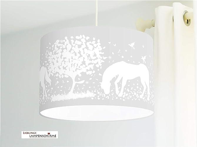 Lampe Kinderzimmer Madchen Mit Pferden In Grau Amazon De Handmade