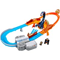 Hot Wheels Monster Trucks Scorpion Raceway Boosted Set with Monster Truck and Hot Wheels Car and Giant Scorpion Nemesis…