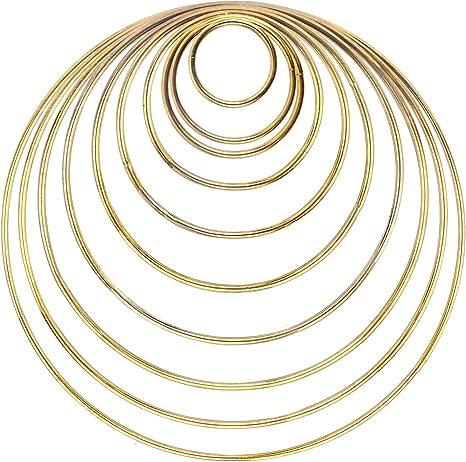 Craft Hoops,10pcs Floral Wreath Hoop Metal Rings Supplies Macrame Rings Craft Dream Catcher Rings for DIY Decor 2inch, 3inch, 4inch, 5inch, 6inch 5 Size