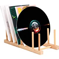 Vinyl Record Storage Holder Stand Rack Eco Friendly Wooden CD Display Stand, Stackable Modern CD Holder Portable…