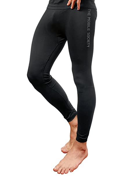 THE MOBILE SOCIETY Leggings Deportivos Hombre Ropa Interior Técnica Transpirable Seamless Made in Italy