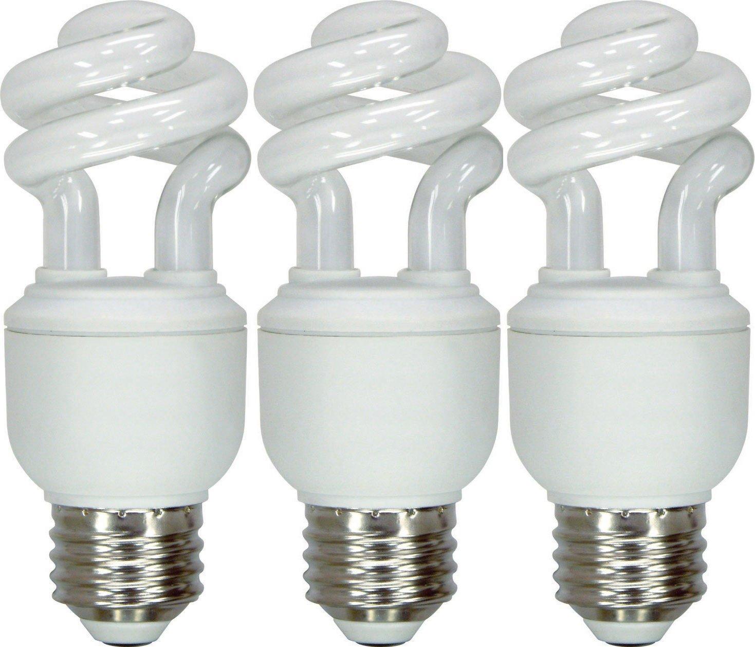 GE Lighting 97688 Energy Smart Spiral CFL 10-Watt (40-watt replacement) 520-Lumen T3 Spiral Light Bulb with Medium Base, 3-Pack
